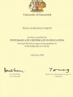 Postgraduate Certificate in Education